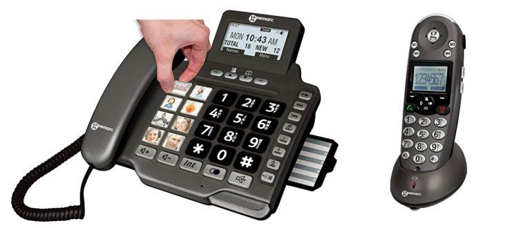 schnurloses telefon mit Fototasten