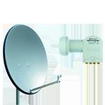 Schüsselform SAT Antenne