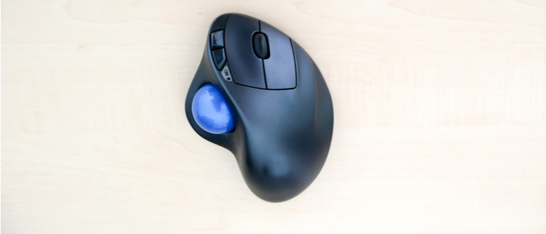 trackball-maus-test